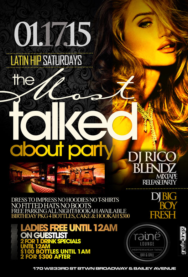 Latin Saturdays at Raine Lounge NYC