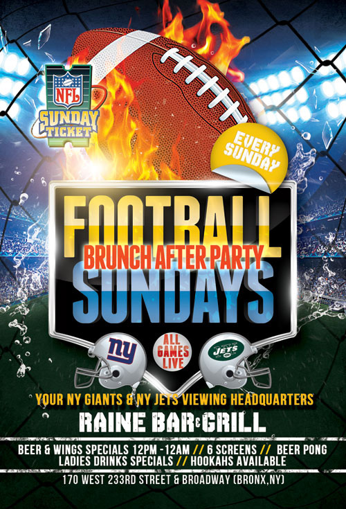 Football Sundays at Raine Lounge Bar & Grill NYC