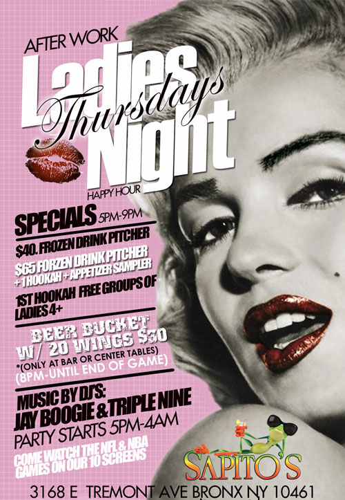 After Work Thursdays at Sapitos Sports NYC Bar